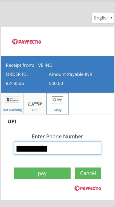 Enter your Net Banking/UPI credentials to authenticate the transaction