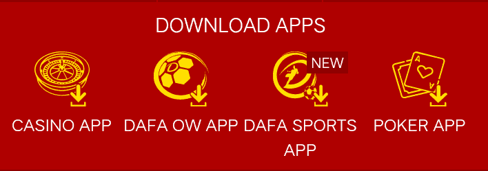 Dafabet has mobile app for sports betting, casino, and live casinos.