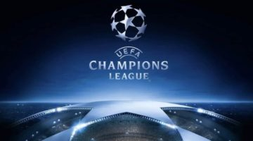 Champions League logo - the 2020 second leg will continue in March