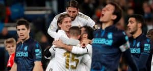Real Madrid defeated Real Soceidad 3-1 in the first leg of this fixture, but lost in the Copa del Rey