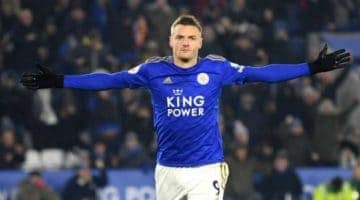 Jamie Vardy is looking to win the Golden Boot and is in our Man Utd v Leicester betting tips to score during the match
