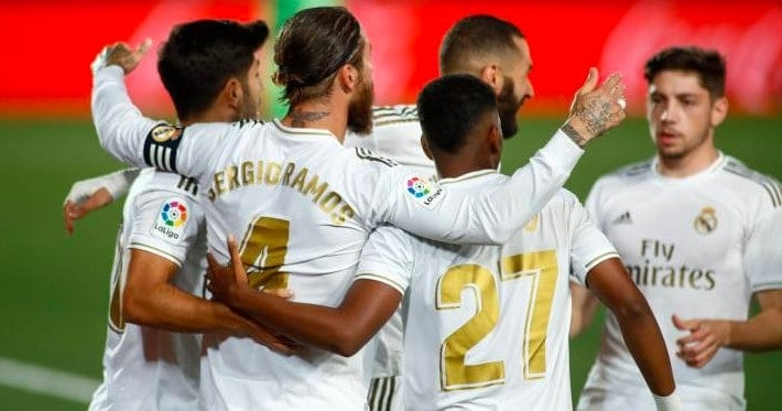 Real Madrid beat Atalanta in the Champions League by 1-0