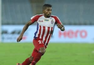 Roy Krishna of ATK Mohun Bagan; he was the top-scorer for ATK in the ISL last season