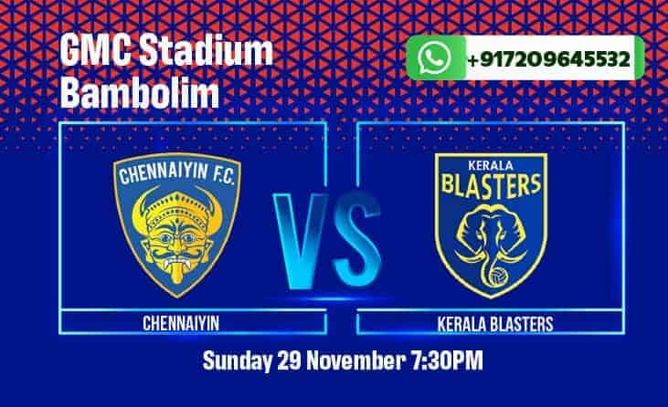 Get betting tips, match odds, and predictions for Chennayin FC vs Kerala Blasters in the ISL