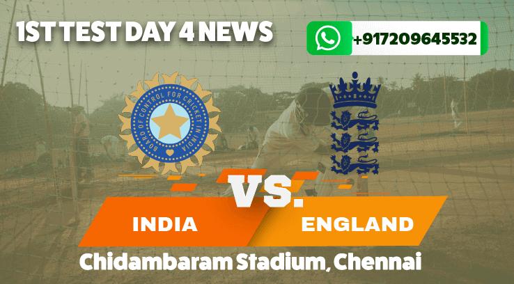 England Set India 420 berjalan untuk memenangi tes pertama di Chennai