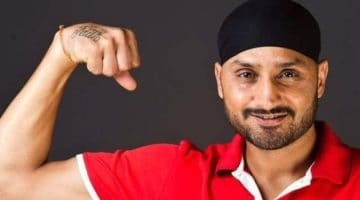 Harbhajan Singh showing off his guns ahead of joining KKR in the IPL 2021