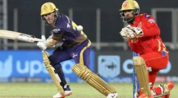 Eoin Morgan playing for KKR