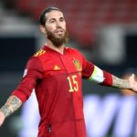 Ramos playing for Spain
