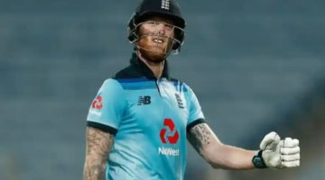 Ben Stokes playing for Englans on the ODI Squad