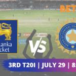 Sri Lanka vs India 3rd T20I Betting Tips & Predictions