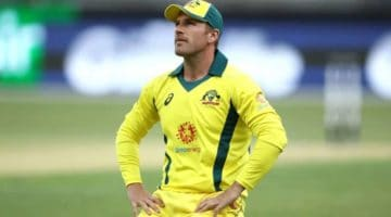 Finch Looks sad as he knows he's Against the Clock for Opening Match of the World Cup